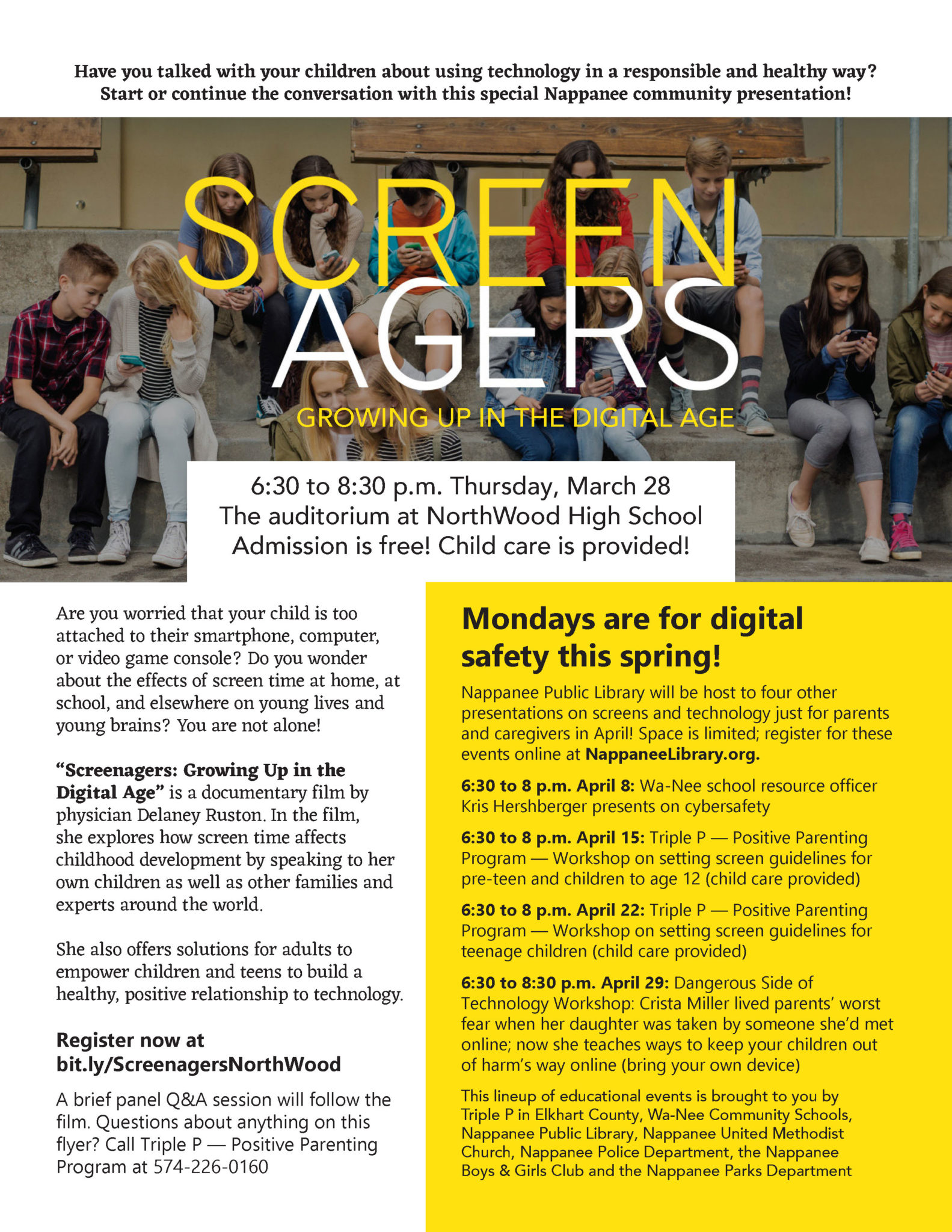 In Screenagers What To Do About Too >> Screenagers City Of Nappanee